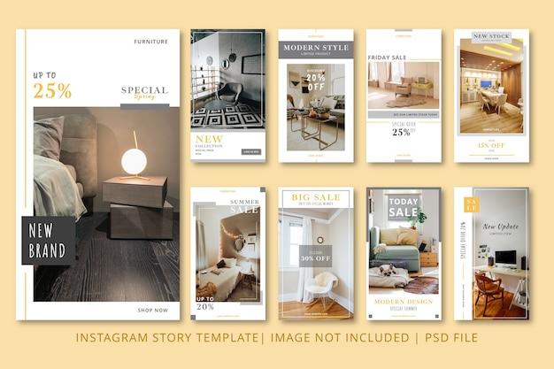 Графический шаблон apartment instagram stories