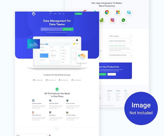 App landing page template design