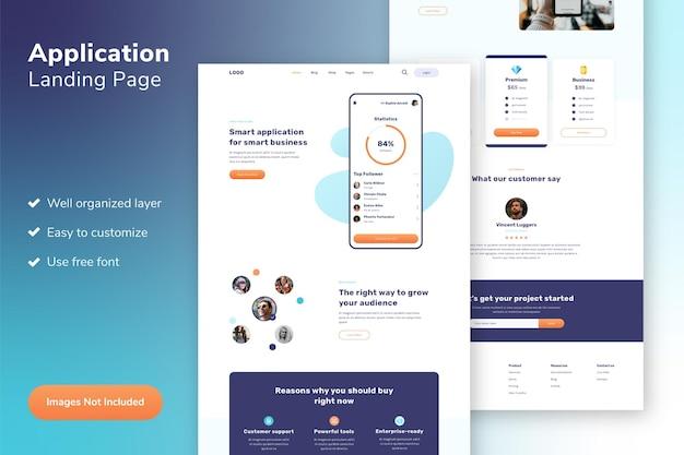 Шаблон веб-сайта целевой страницы приложения