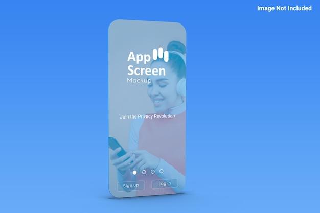 アプリ画面のモックアップ正面図 Premium Psd