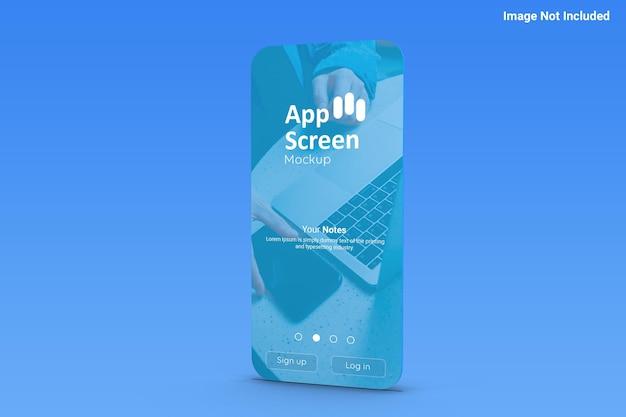 アプリ画面のモックアップ正面図