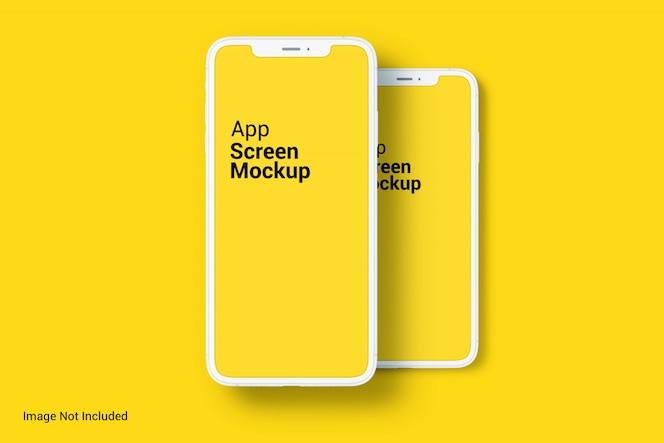 mockup della schermata dell'app