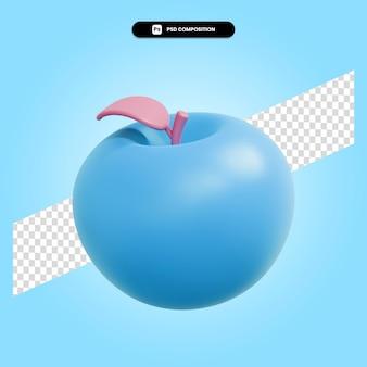 Яблоко осенние фрукты 3d визуализации изолированных иллюстрация