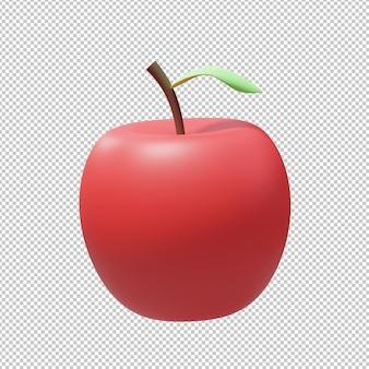 사과 과일 3d 그림