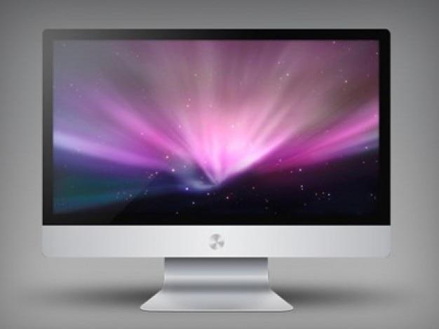 Apple imac graphic design psd
