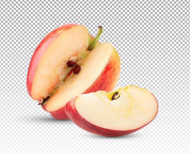Яблоко изолировано