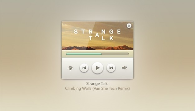 Apple mac minimalistic music osx player ui widget
