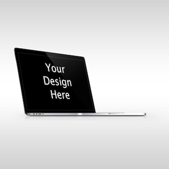 Apple macbook pro left view mockup