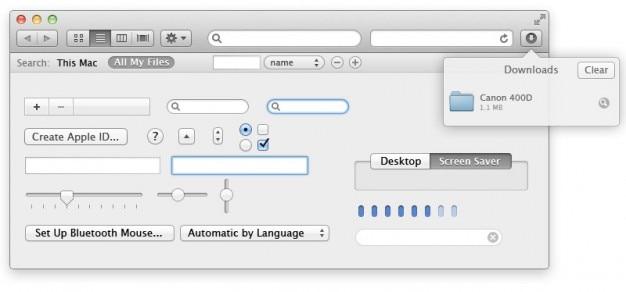 Apple user interface psd