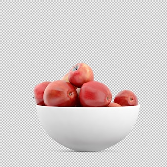 Apples 3d render
