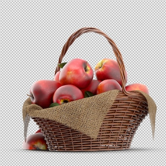 Яблоки 3d визуализации