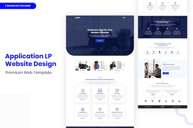 Шаблон дизайна веб-сайта application lp
