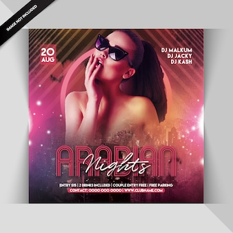 Arabian nights party flyer