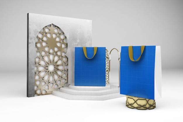 Мокап арабского дизайна сумки