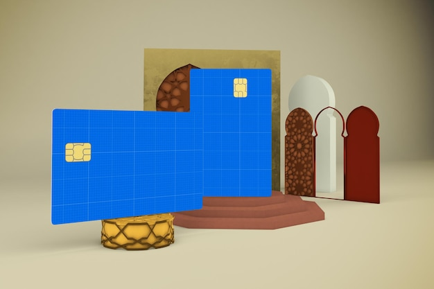 Мокап арабской кредитной карты