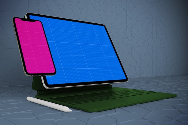 Arabic mobile & tablet mockup