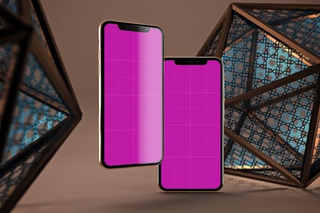 Arabic mobiles mockup