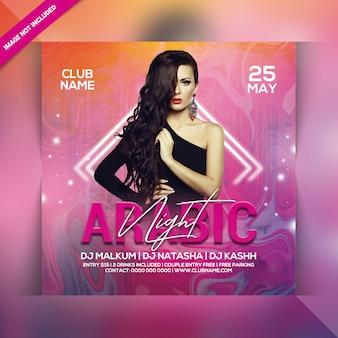 Arabic night party flyer