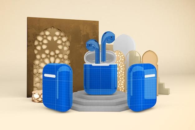 Мокап дизайна арабских стручков
