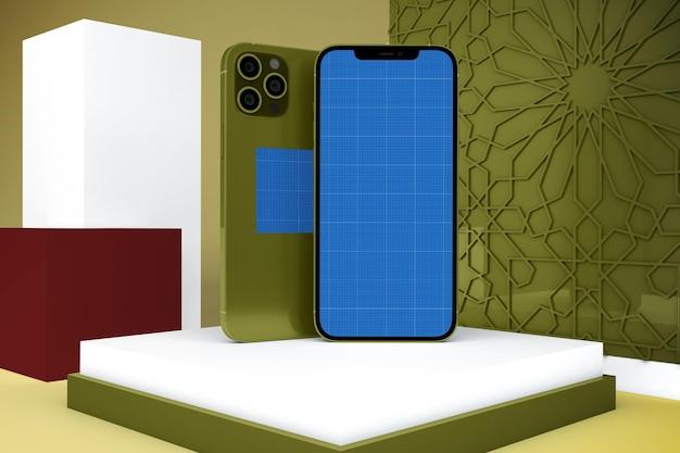 Арабский макет смартфона