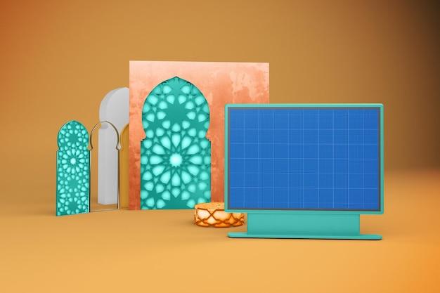 아랍어 스트리트 빌보드 목업