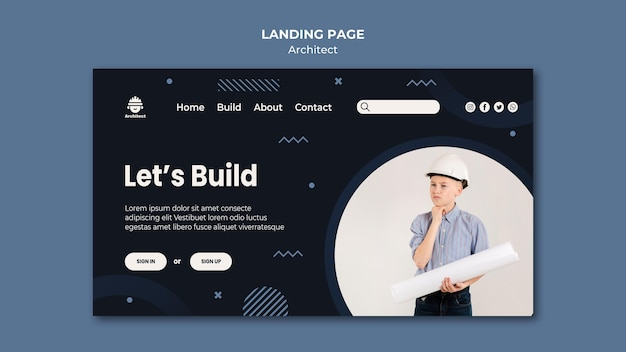 Architect career landing page