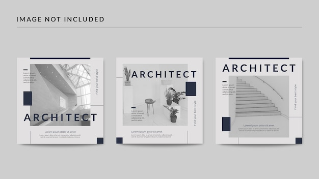 Architect social media post template