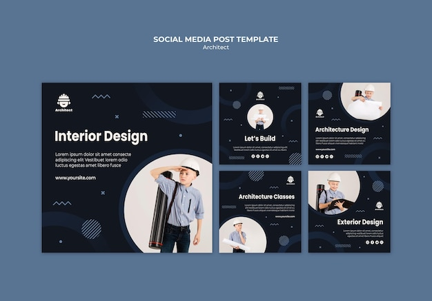 Architect social media post template