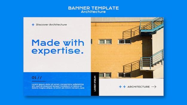 Modello di banner di architettura