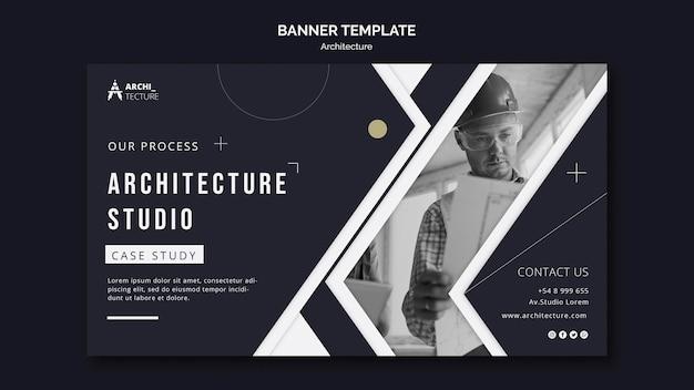 Modello di banner di concetto di architettura Psd Gratuite