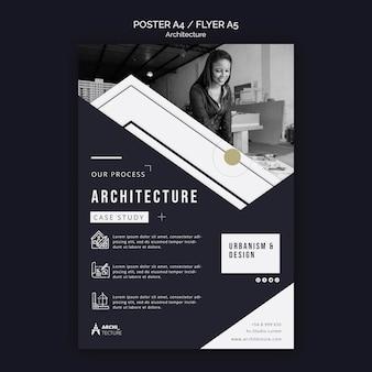 Modello di volantino del concetto di architettura