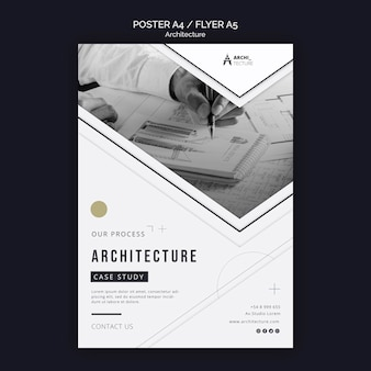 Architecture concept flyer template