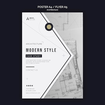Modello di volantino del concetto di architettura Psd Gratuite