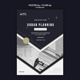 Architecture concept poster template