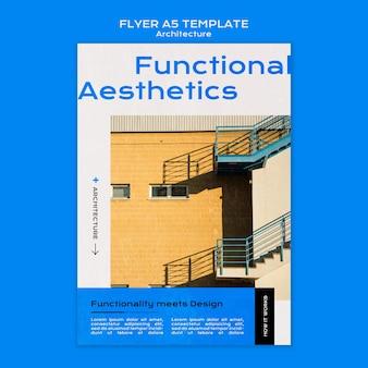 Modello di volantino di architettura