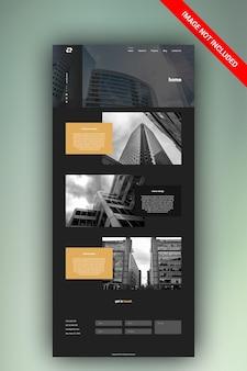 建築ウェブサイトデザインテンプレート