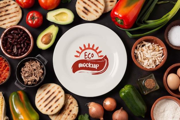 Arepas food design mockup