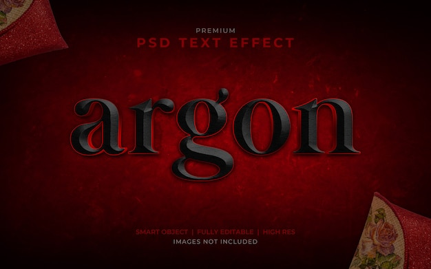 Argon psd text effect mockup