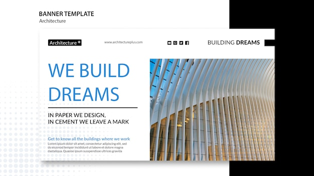 Arhitecture concept banner template