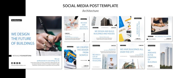 Arhitecture concept social media post template