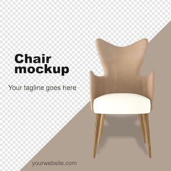 Armchair mockup 3d rendering