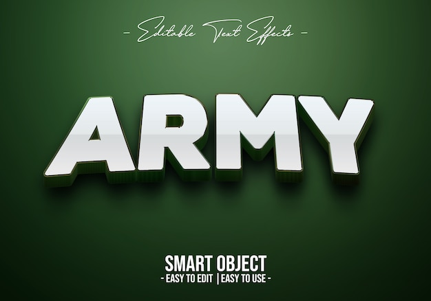 Army text style effect