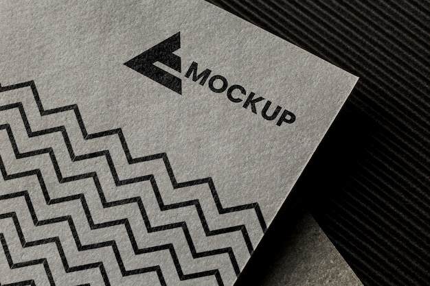 Arrangement of branding mock-up on card
