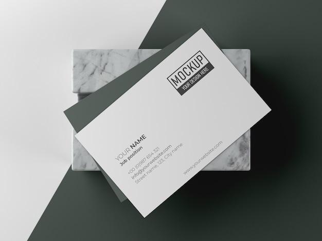 Arrangement of business card mock-up
