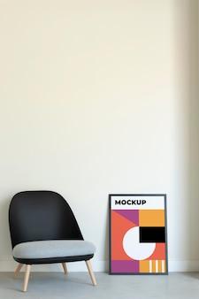 Disposizione della cornice decorativa mock-up