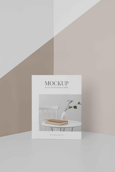 Arrangement of mock-up book cover