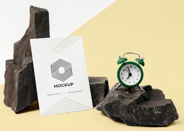 Arrangement of mock-up brand stationery