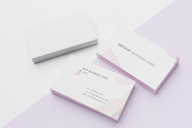 Arrangement of mock-up business card