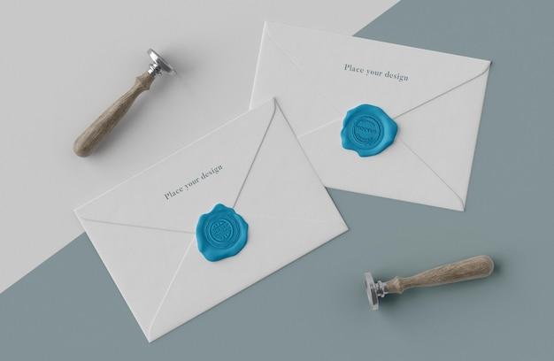 Arrangement of mock-up seal for envelope