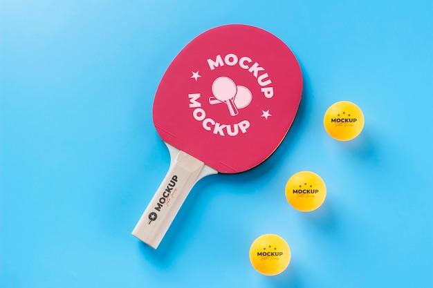 Disposizione di elementi sportivi mock-up